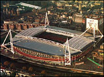 The Millennium Stadium sits in the heart of the city of Cardiff