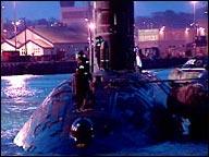 HMS Tireless docked in Devonport