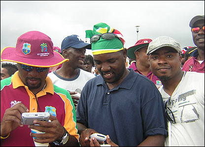 Lisa Lewis sent us this photo of West Indies fans still enjoying the cricket despite Sri Lanka's dominance at the Providence National Stadium in Guyana