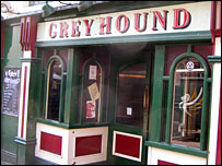 The Greyhound pub in Newport city centre