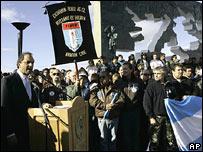 Daniel Scioli, vicepresidente de Argentina, durante un acto conmemorativo