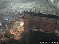 Wu Ping's house destroyed 