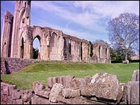 Glastonbury abbey - courtesy bbc.co.uk/somerset