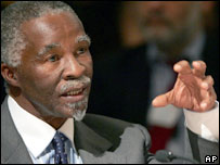 South African President Thabo Mbeki