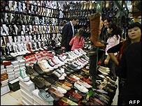 Fake shoes on sale in Beijing