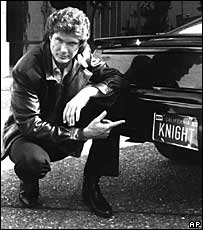 David Hasselhoff with Knight Rider car Kitt