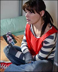 Kate Ford, as Tracy Barlow in Coronation Street