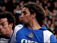 Niko Kranjcar in action for Pompey at Fulham on Saturday