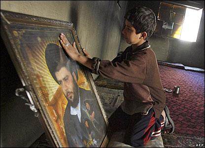 Iraqi boy in Baghdad