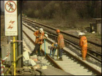 Men working on railway