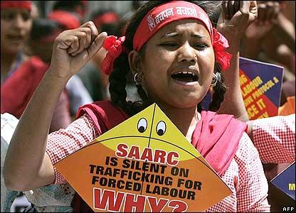 Children protest in Delhi