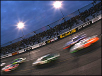 A Nascar night race in the US