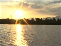 Sunset over Lake Patzcuaro