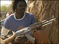 A rebel in Deribat, Darfur