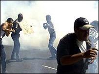 Imagenes de enfrentamientos