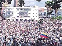 Imagenes de marcha opositora el 11 de abril del 2002