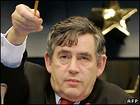 Gordon Brown in Brussels