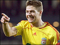 Steven Gerrard's goal in the win at PSV helped him become Liverpool's record goalscorer in the European Cup
