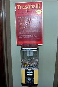 A trashball vending machines in Washington DC