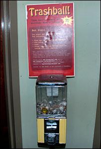 A trashball vending machines in Washington DC