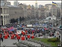 Акции протеста сторонников Виктора Януковича на Майдане Незалежности