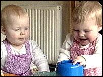 Twins Hannah and Olivia