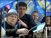 Supporters of PM Viktor Yanukovych in Kiev