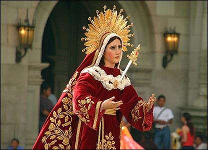 Procesi�n de Domingo de Ramos en San Jos� en Guatemala