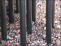 Manifestaci�n de la oposici�n en el este de Caracas, desde donde comenz� la marcha (Foto: El Nacional)