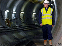 Sebastian Coe walking through tunnel