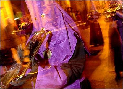 Procesi�n de Semana Santa en Santiago de Compostela