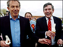 Tony Blair and Gordon Brown 2005 election campaign