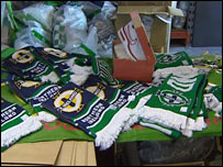 Fake Northern Ireland football team scarves were seized