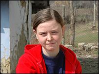 Anna in her village