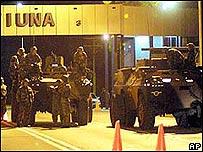 Militares en Fuerte Tiuna, Caracas en abril de 2002