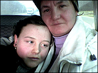 Anna and her mother who was trafficked out of Moldova