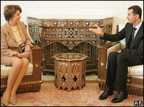 Nancy Pelosi and Bashar al-Assad