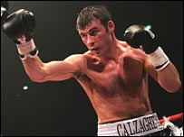 Calzaghe in action
