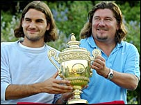 Roger Federer and Peter Lundgren