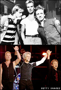 The Police in 1980 and 2007