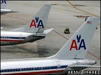 American Airline planes at Miami Airport