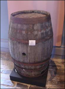 A Hogshead Barrel which held 813kg of sugar