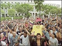 Manifestaci�n oficialista. (Foto: El Nacional)