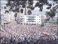 Manifestaci�n de la oposici�n (Foto: El Nacional)