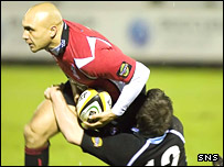 Border Reivers' Brendon Daniel in Magners League action