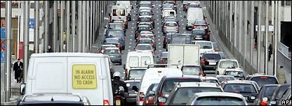 Brussels traffic jam