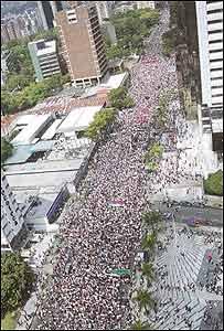 Manifestaci�n opositora (Foto: El Nacional)
