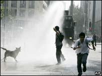 Riots in Santiago