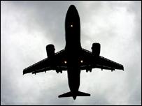 Plane in flight (credit AFP/Getty)