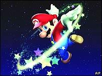 Mario, a Nintendo game character